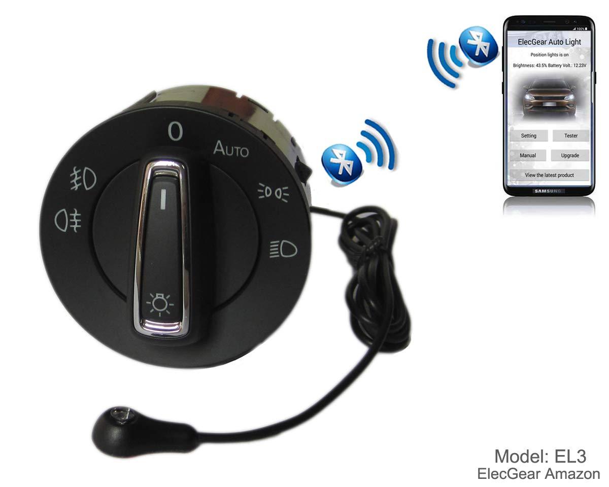 Seat Ateca Leon 3 5F Replacement Headlamp Dimmer Bluetooth App Control Coming Leaving Home Module Skoda Octavia 3 EL4 Headlight Fog Light Auto Sensor Retrofit Switch Superb B8 Toledo IV