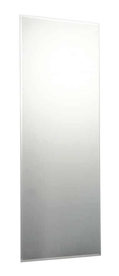 120 X 45cm Rectangle Bevelled Edge Bathroom Mirror With Chrome Effect Metal  Spring Loaded Wall Hanging