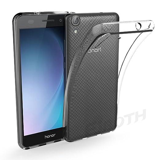 20 opinioni per Huawei Y6 II Custodia protettivo, EJBOTH TPU telefono Caso Cristallo Trasparente