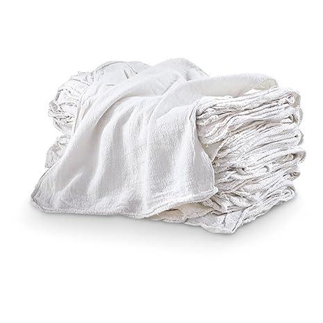 """Toallas de autocompra – 100 unidades – 100% algodón blanco – Grande 14"""" x"""