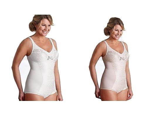 b32df93042a66 SWEGMARK OF SWEDEN Stunning Cotton Rich Body Shaper Nude Or White 36-44 B C  D E (White 42E)  Amazon.co.uk  Clothing