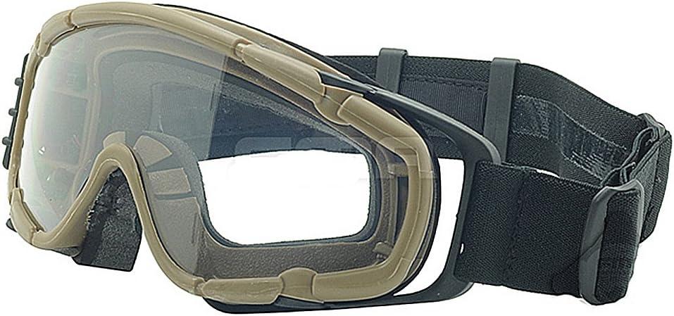 Ventilador Enfriador de versión gafas si-ballistic gafas de protección para bicicleta Ciclismo conduciendo táctico Paintball Airsoft Snowboard Esquí 3colores (negro, de, rosa), DE
