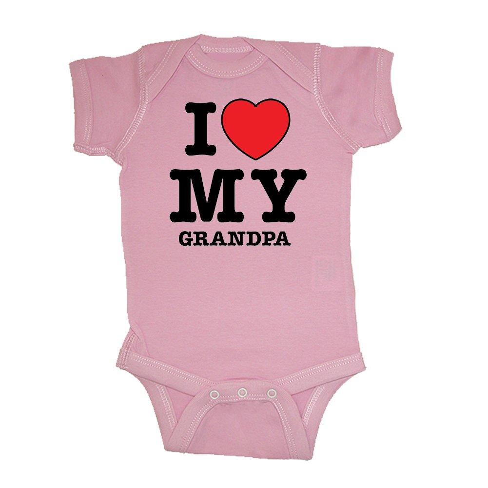 So Relative! Unisex Baby I Love My Grandpa (Red Heart) Bodysuit (Lt. Pink, 6 Months)