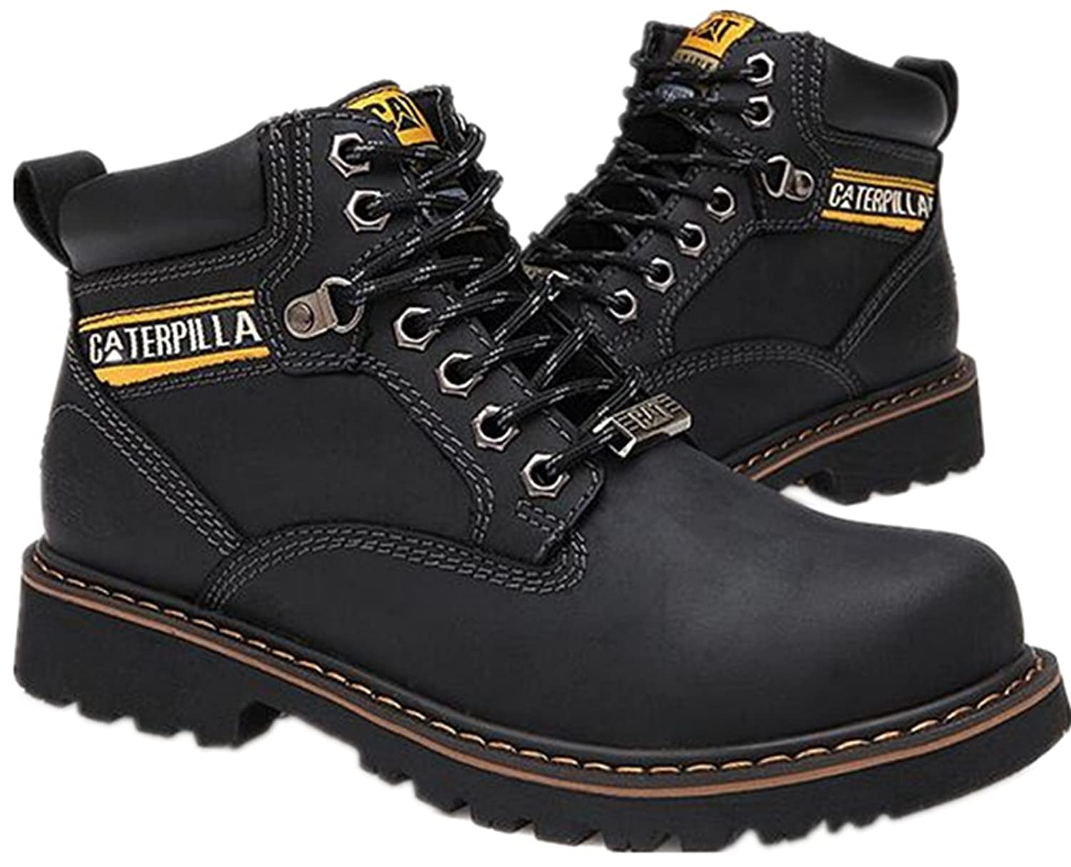 Men's Leather Shoes Martin Boots First Matte Leather Flat-bottomed Boots