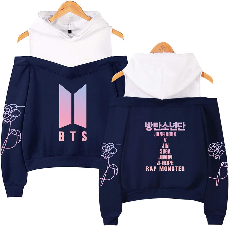 Yicool BTS Love Yourself Tee Hooded Sweatshirts Jimin Suga Jung Kook V Black Hoodie Fans Pullover Hoodie