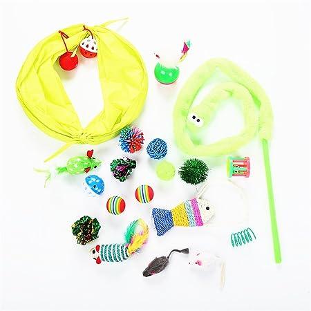 Juguetes de plumas de gato Juego de juguetes para gatos Caja de ...