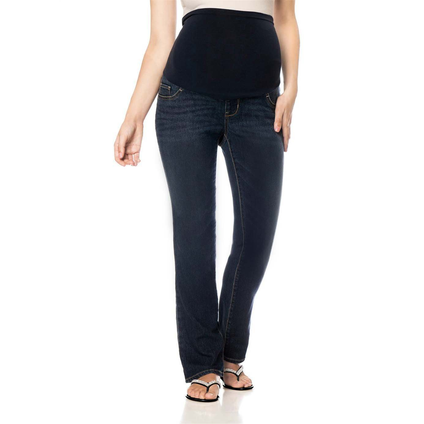 LizLang Maternity High Rise Bootcut Jeans for Women Pregnancy Stretch Pants with Full Panel Cute & Sexy