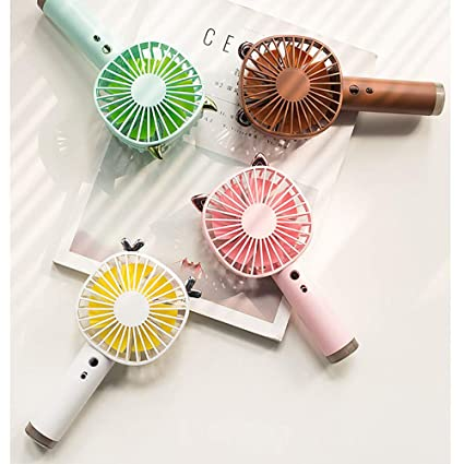 BESPORTBLE Mini Portable Handheld USB Fans for Desk Table Fan for Home Office Fishing Hiking Baby Stroller Coffee Color