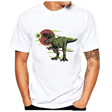 NINGNETI Camisetas Hombre Manga Corta Basicas Tallas Grandes Moda ...