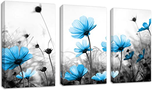 16x24 Up Close with a Daisy on a Black and White Vintage Portrait Canvas Art