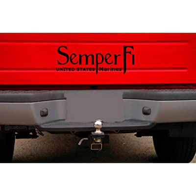 Classy Vinyl Creations Semper Fi Car Decal (Black) - Auto Decal - Truck Decal - SUV Decal - Window Sticker - Window Decal - Marine Decal - Army Decal - Military Decal - (Black): Automotive