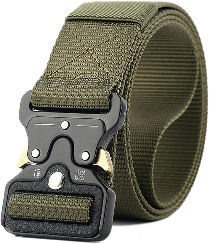 OWIKAR Cinturón de cintura táctico para hombres Cintura de nylon militar multifunción Equipo de entrenamiento militar ajustable Cinturón de liberación ...