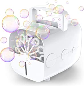 Bubble Machine, Theefun Automatic Portable Bubble Maker for Kids, 800 Bubbles Per Minute,Plug-in or Batteries Powered Bubble Blower for Outdoors, Party, Wedding, Birthday