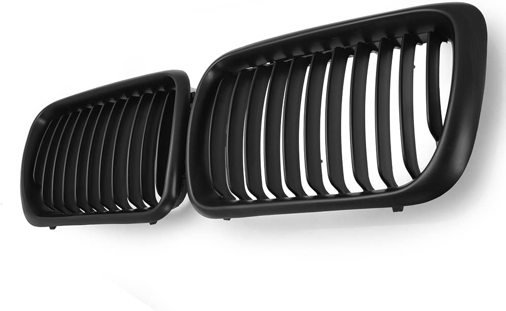 Power Black Front Sport Kidney Grille Grill For 1997-1999 E36 318 323 325 328 97 98 99
