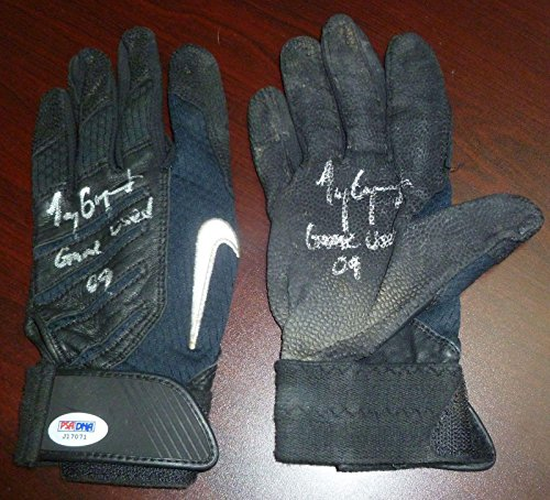 Tony Gwynn Jr 2009 Signed Game Used Batting Glove Pair COA Padres Auto 4 - PSA/DNA Certified - Autographed MLB Gloves