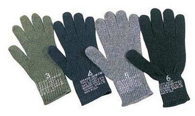 Amazon.com  GI Wool Glove Liners Military Gloves - Olive Drab  Clothing 176030b9f84