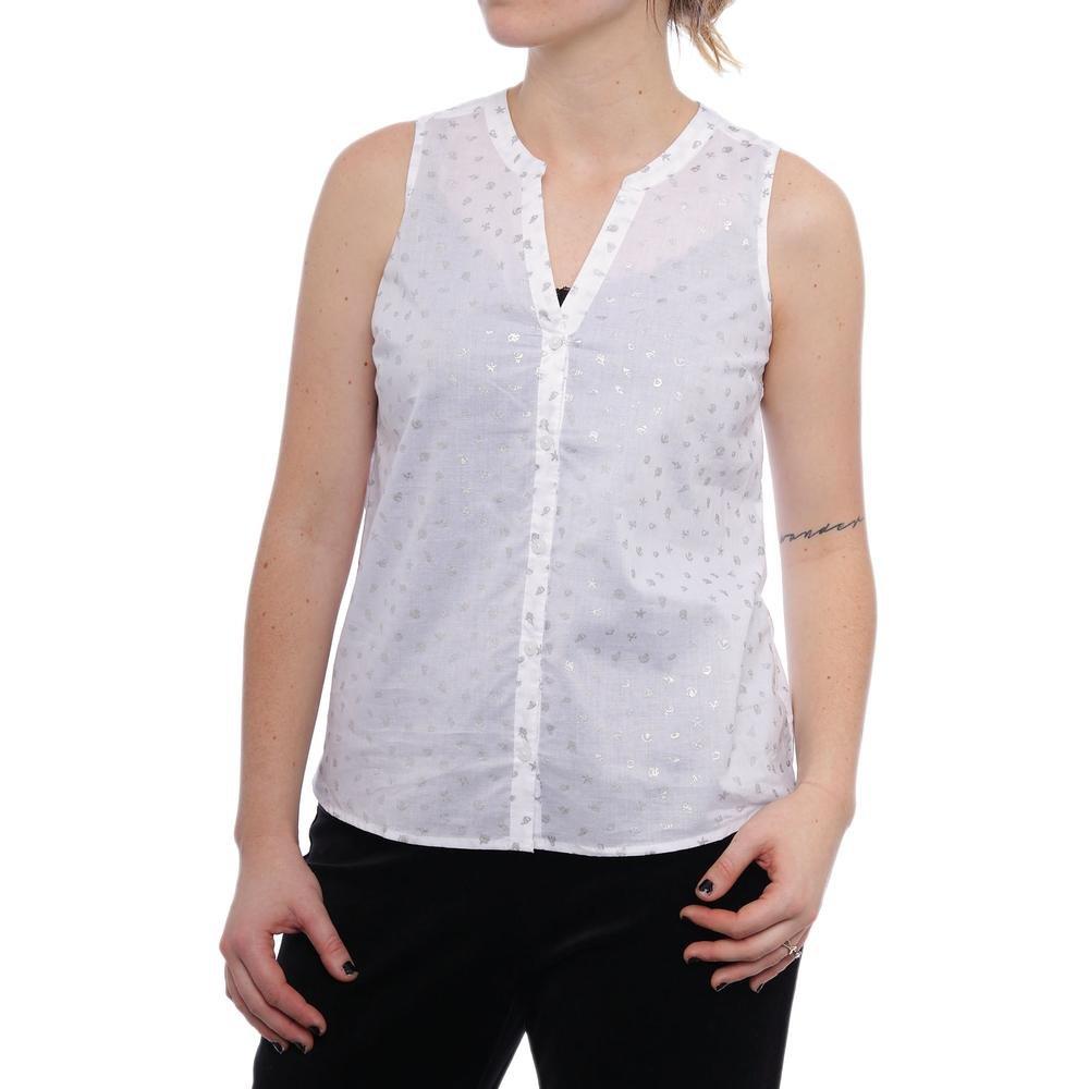 84ece8b0 Maison Jules Womens Sheer Button Up Shirt at Amazon Women's Clothing store: