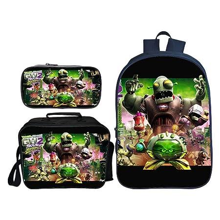 Backpack Mochila Infantil De Tres Piezas Plantas Vs. Zombies ...