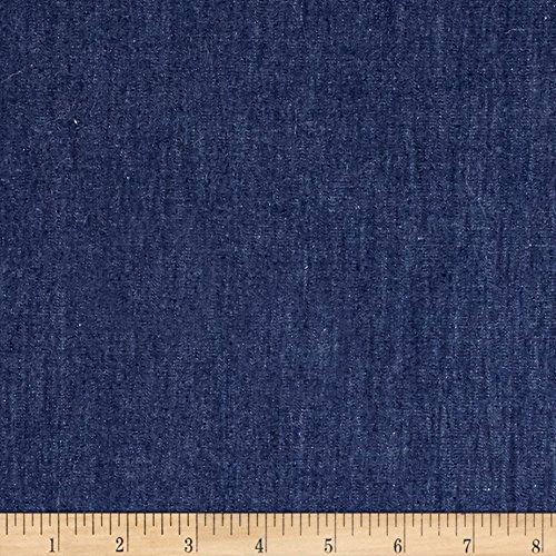 TELIO 4.8 oz Denim Chambray Dark Blue Fabric by The Yard