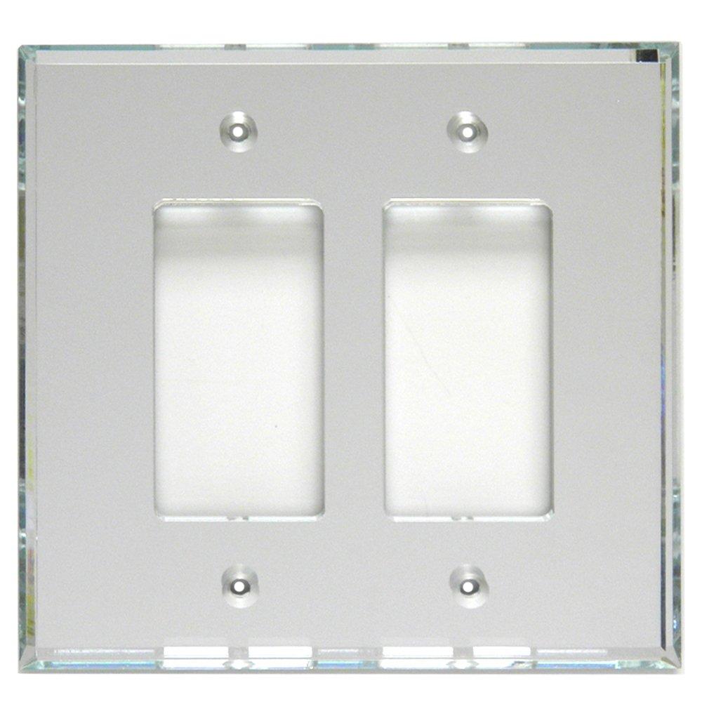 GlassAlike Double Decora Acrylic Mirror Switch Plate by Mirart
