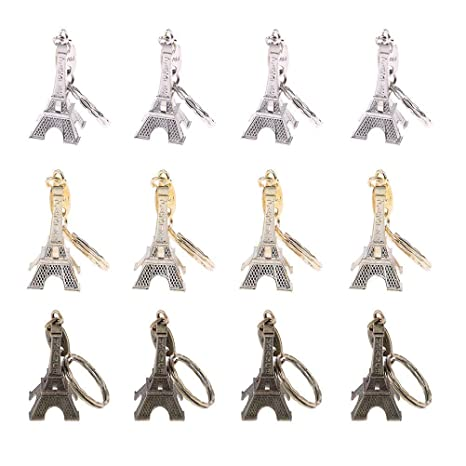 Amazon.com: 48 pcs/lot Torre Eiffel llavero 3d French ...