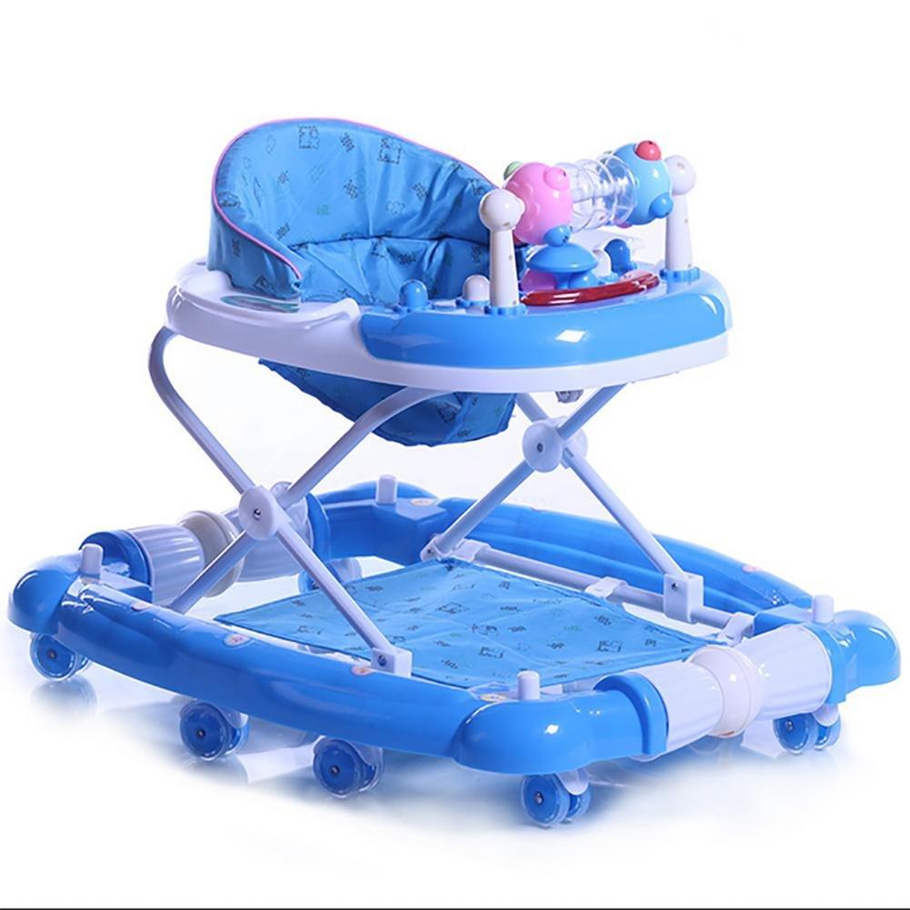 QIAN Baby-Rollover -Multifunktions faltbar Musik Schaukelpferd schüttelte seinem Auto walker