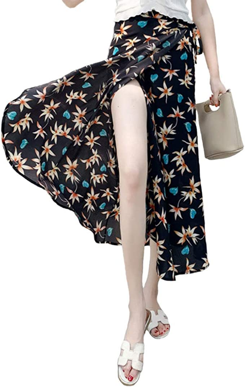 Faldas para Mujer Larga Sexy Summer Casual Boho Gasa Cintura Alta ...