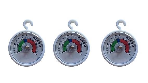 Kühlschrankthermometer : Stück set rundes bimetall analog klebe kühlschrankthermometer