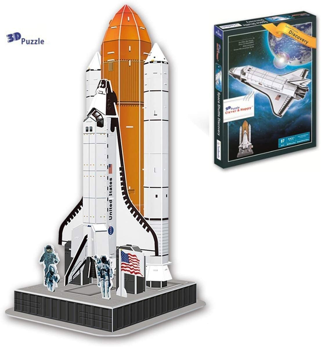 Liberty Imports 3D Puzzle DIY Model Set - Worlds Greatest Architecture Jigsaw Puzzles Building Kit (Space Shuttle Discovery)