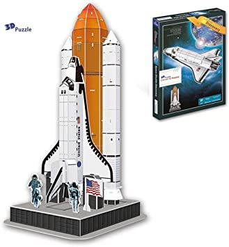 Clever & Happy Space Shuttle Discovery 3D Puzzle (87 Pieces)