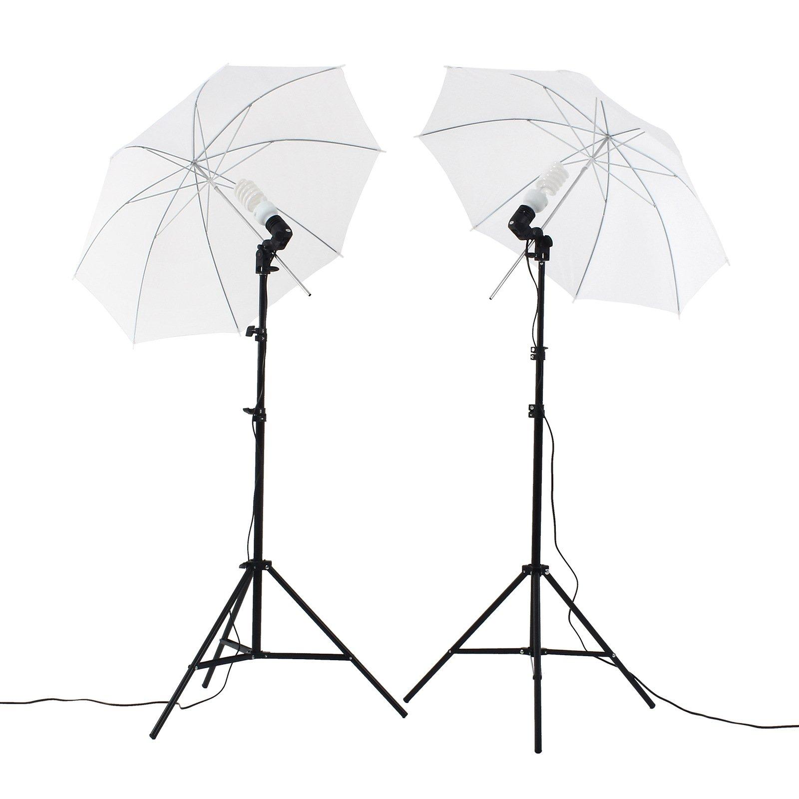 Upland Photography Umbrella Lighting Kit, 33''(83cm)Professional Lighting for Studio Photography, Portrait Lighting and Video Lighting