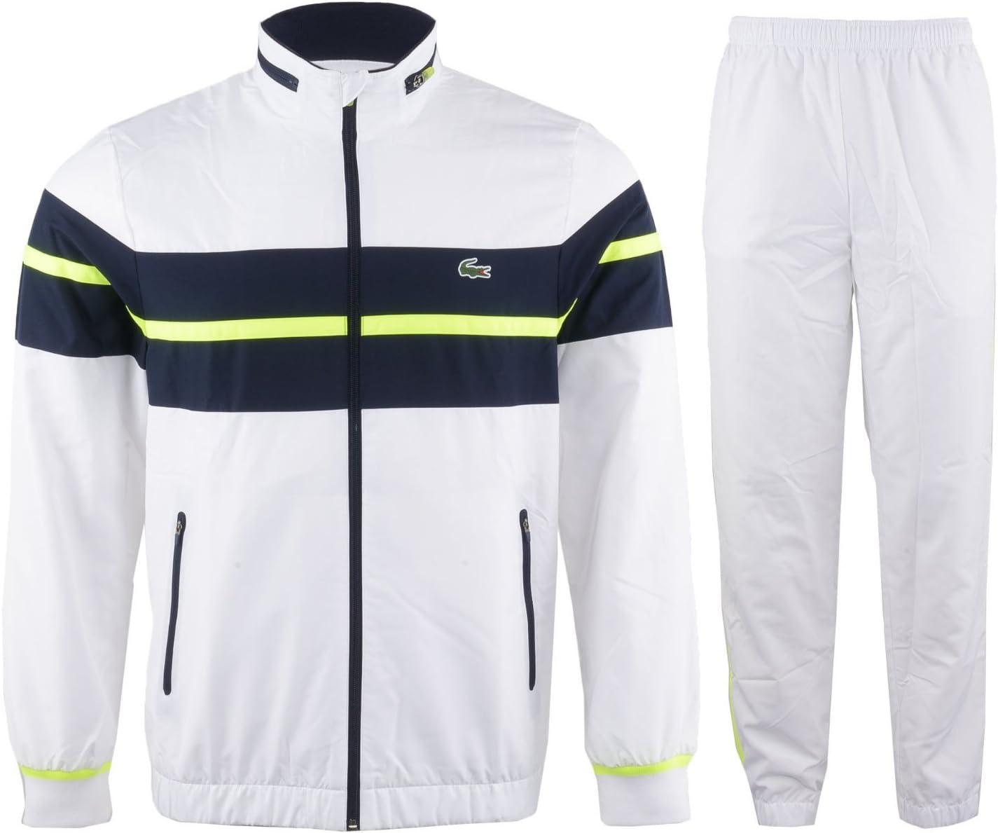 Lacoste Sport Tracksuit Men, Color - Blanco, Azul Marino y ...