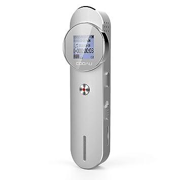 COOAU Grabadora de Voz Digital Portátil 8GB 1536 Kbps Soporte Para Tarjeta de Memoria Externa de