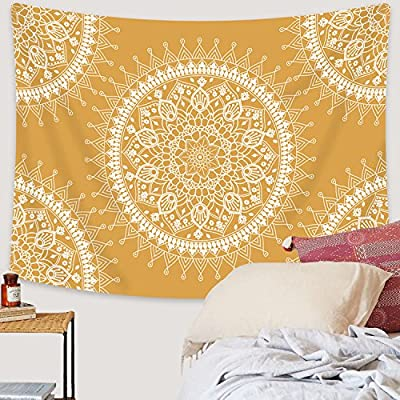 Sevenstars Mandala Tapestry Hippie Bohemian Tapestry Wall Hanging Flower Psychedelic Tapestry for Bedroom Living Room Dorm Home Decor