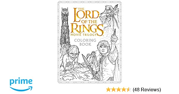 The Lord Of Rings Movie Trilogy Coloring Book Warner Brothers Studio J R Tolkien Nicolette Caven 9780062561480 Amazon Books