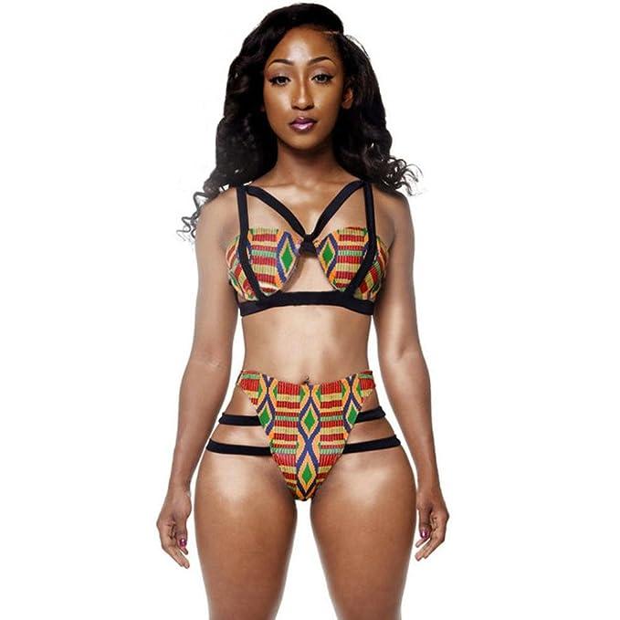 Amazon.com: Conjunto de Bikini para mujer, estampado ...