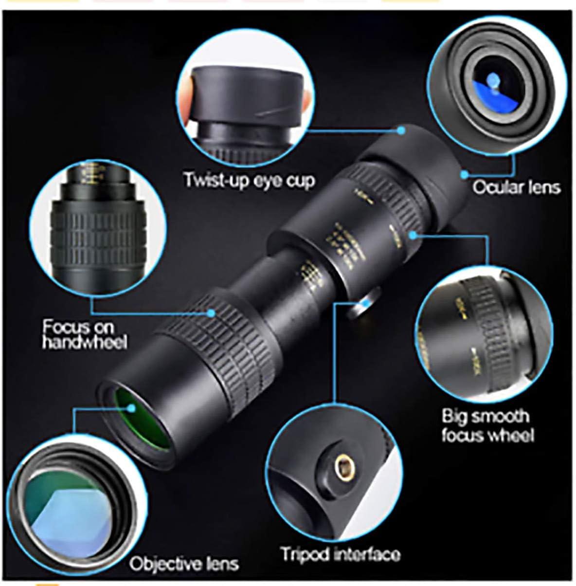 Monocular Telescope for Smartphone 4K Super Telephoto Zoom Monocular Telescope with BAK4 Prism Lens for Beach Travel Outdoor Activities Sports 4K 10-100X30mm
