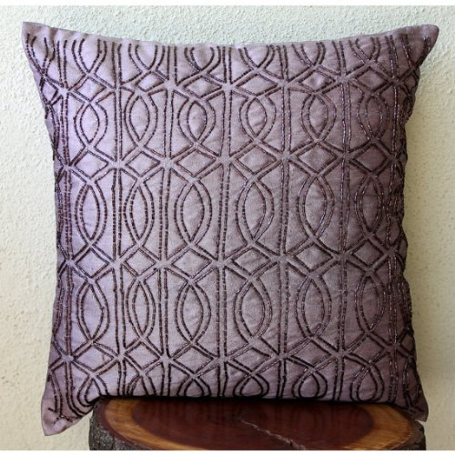 Pillow Cover, Purple Throw Pillows Cover for Couch, Lattice Trellis T