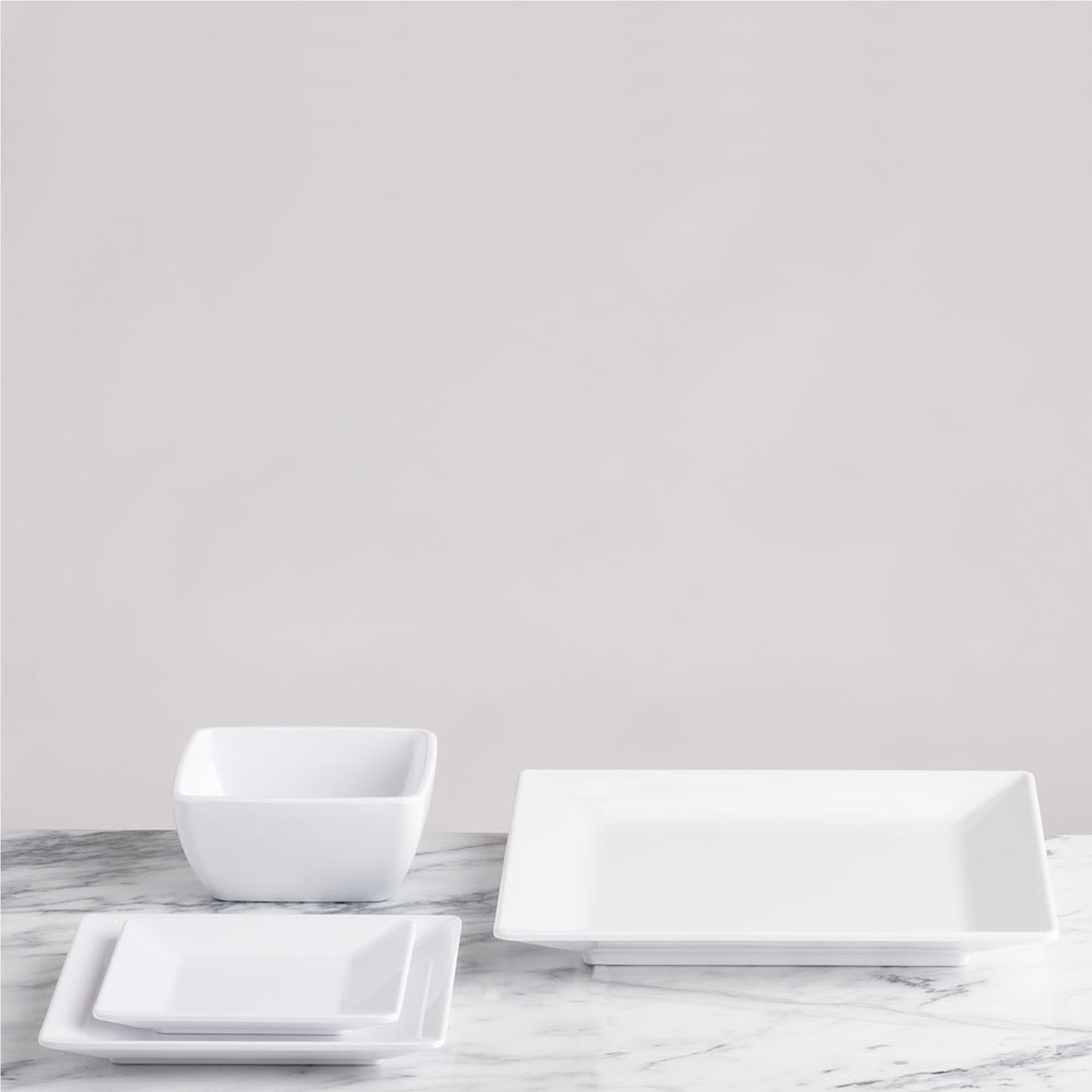 Q Squared Diamond White BPA-Free Melamine Large Rectangle Platter, 17-1/4 by 10-1/2, White by Q Squared (Image #4)