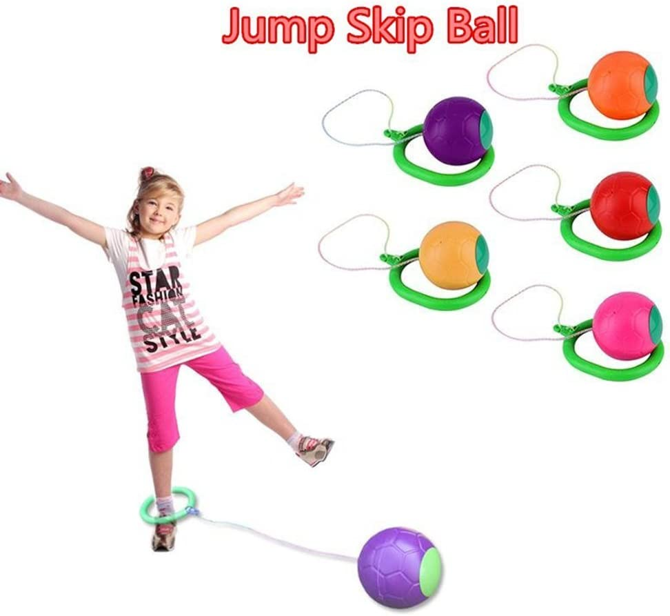 TYKusm - Pelota de equilibrio para niños, juguete para patinar, ejercicio de equilibrio, aro, saltar, juguete para patio de juegos al aire libre, color al azar