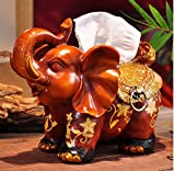 Hyun times European resin tissue box tray pumping an elephant mother napkin box creative luxury living room decoration ornaments