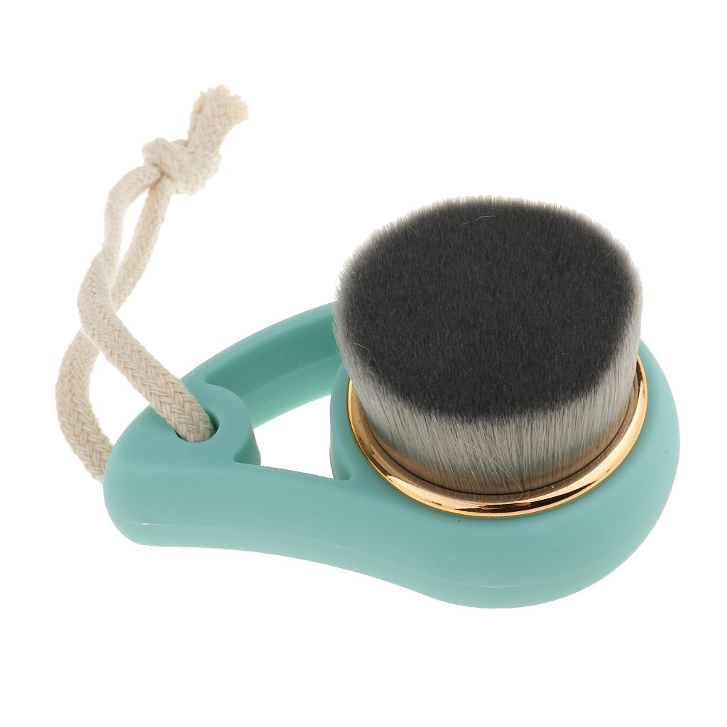 MagiDeal Face Cleaning Brush Deep Facial Cleanser Exfoliating Cleaning Tool - Plastic Handle + BAMBOO CHARCOAL FIBER BRISTLE