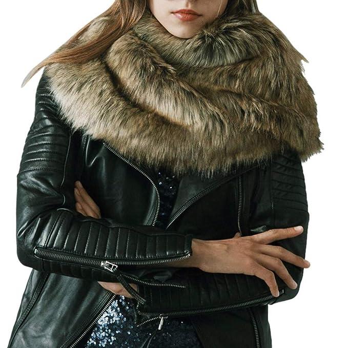LQQSTORE Sciarpe Donne nuovo inverno caldo faux pelliccia morbida sciarpa  sciarpe ad anello 51c0bfeb72b