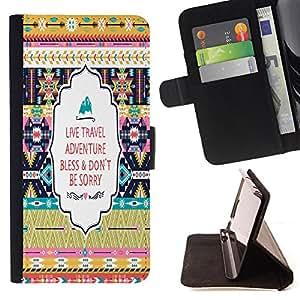 Dragon Case - FOR Samsung Galaxy S5 Mini, SM-G800 - Don??t be sorry - Caja de la carpeta del caso en folio de cuero del tir¨®n de la cubierta protectora Shell