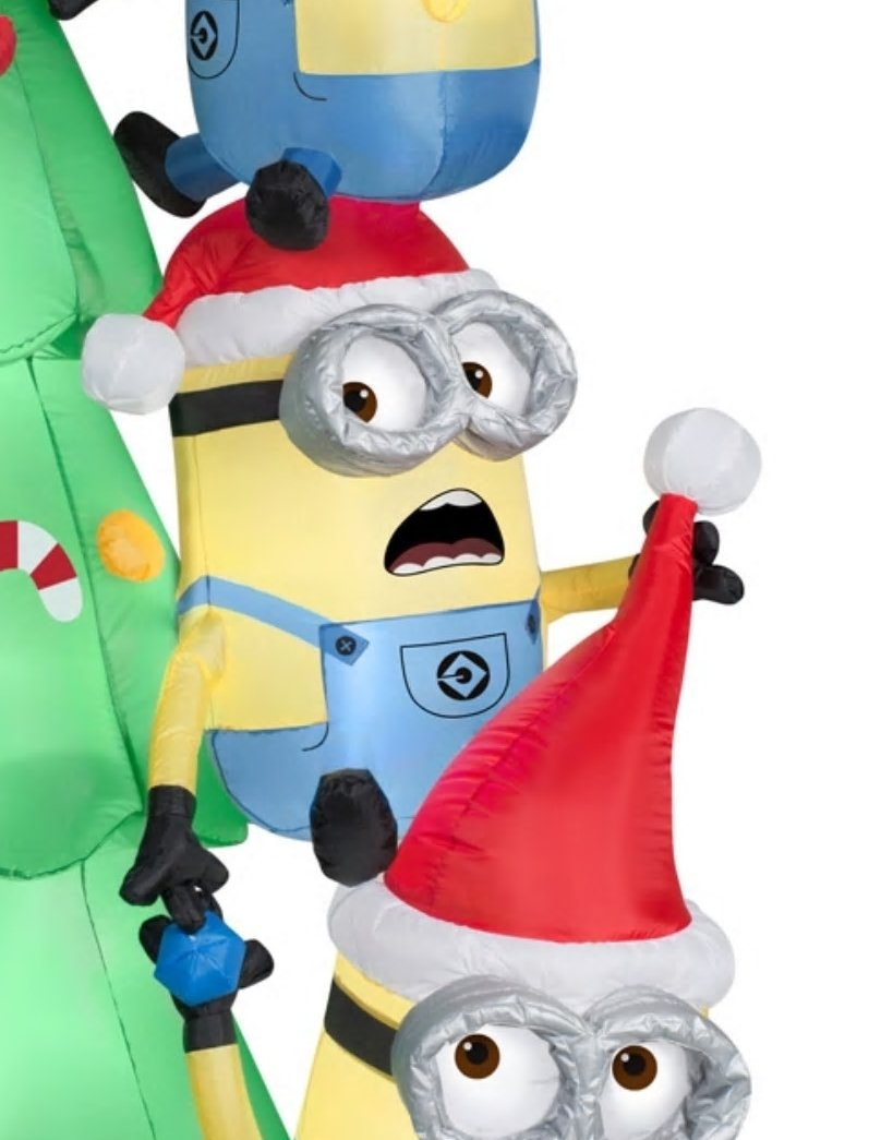 Christmas Inflatables Decorations Minions Despicable Me Winter Holiday Kids
