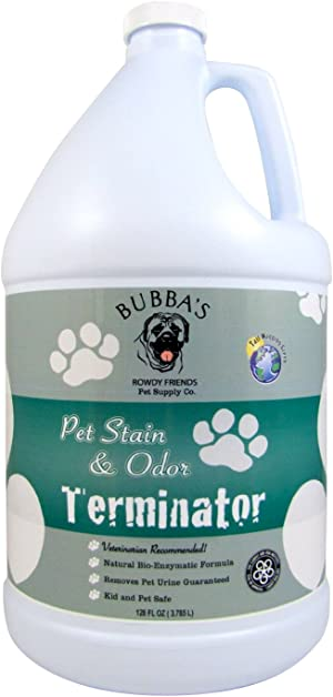 BUBBAS Super Strength Commercial Enzyme Cleaner - Pet Odor Eliminator   Enzymatic Stain Remover   Remove Dog Cat Urine Smell from Carpet, Rug or Hardwood Floor and Other Surfaces