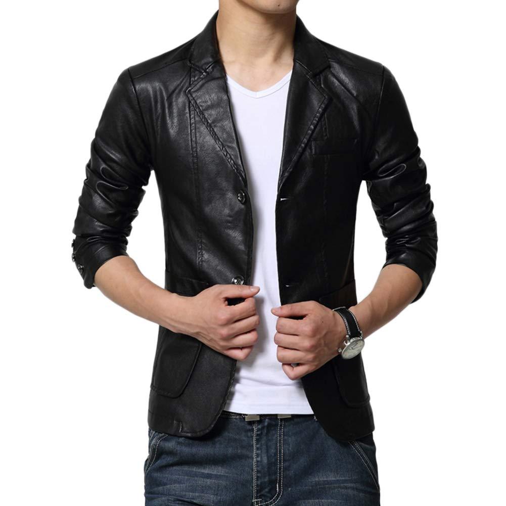 LaoZanA Herren Jacke Freizeit PU PU PU Leder Kunstleder Übergangsjacke Slim Fit Mantel B07L2RPV94 Jacken Stilvolle und attraktive Tasche f80c9b