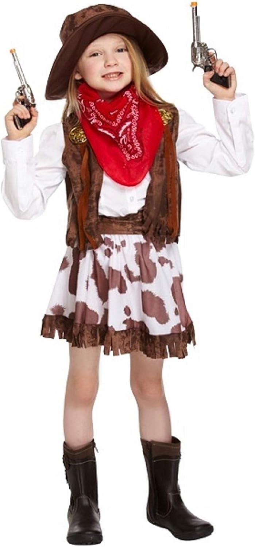 Fancy Me Chica Niños del Lejano Oeste Cowgirl Sheriff Halloween ...
