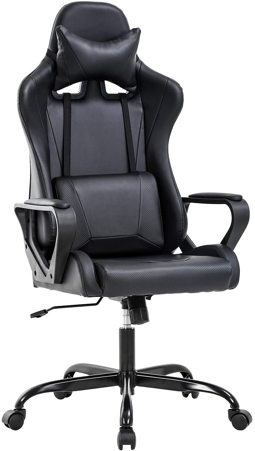 Office Chair Gaming Chair Desk Chair Ergonomic Racing Style Executive Chair with Lumbar Support Adjustable Stool Swivel Rolling Computer Chair for Women,Man