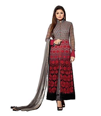 dcc9b93096 Vipul Branded Georgette Multi-Coloured Salwar Suit Kameez Dress Material ( Holi  Offers & Discount